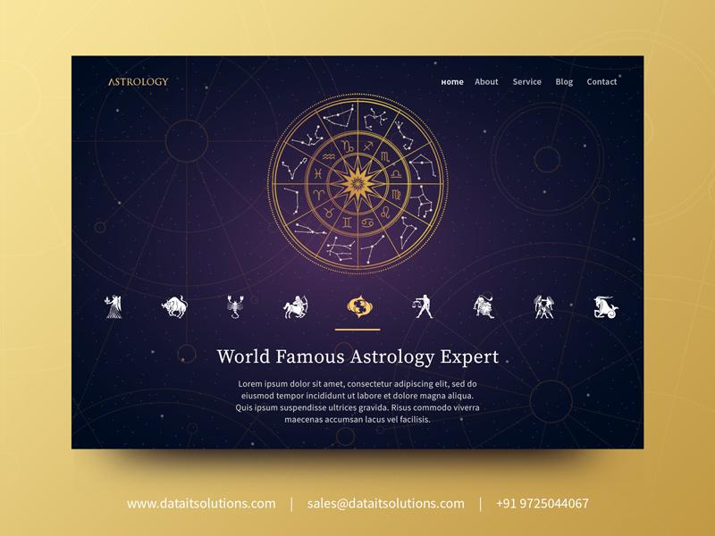 Astrology Website Design