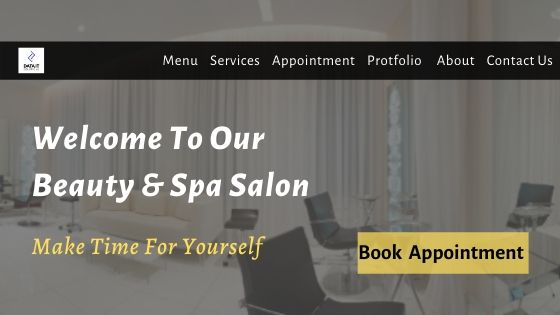 Beauty & Spa salon Website Design