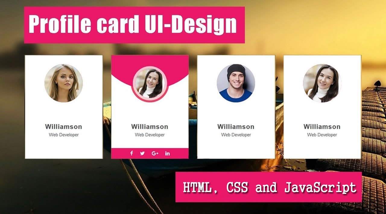 How To Create a User Profile Card Using HTML, CSS and JavaScript