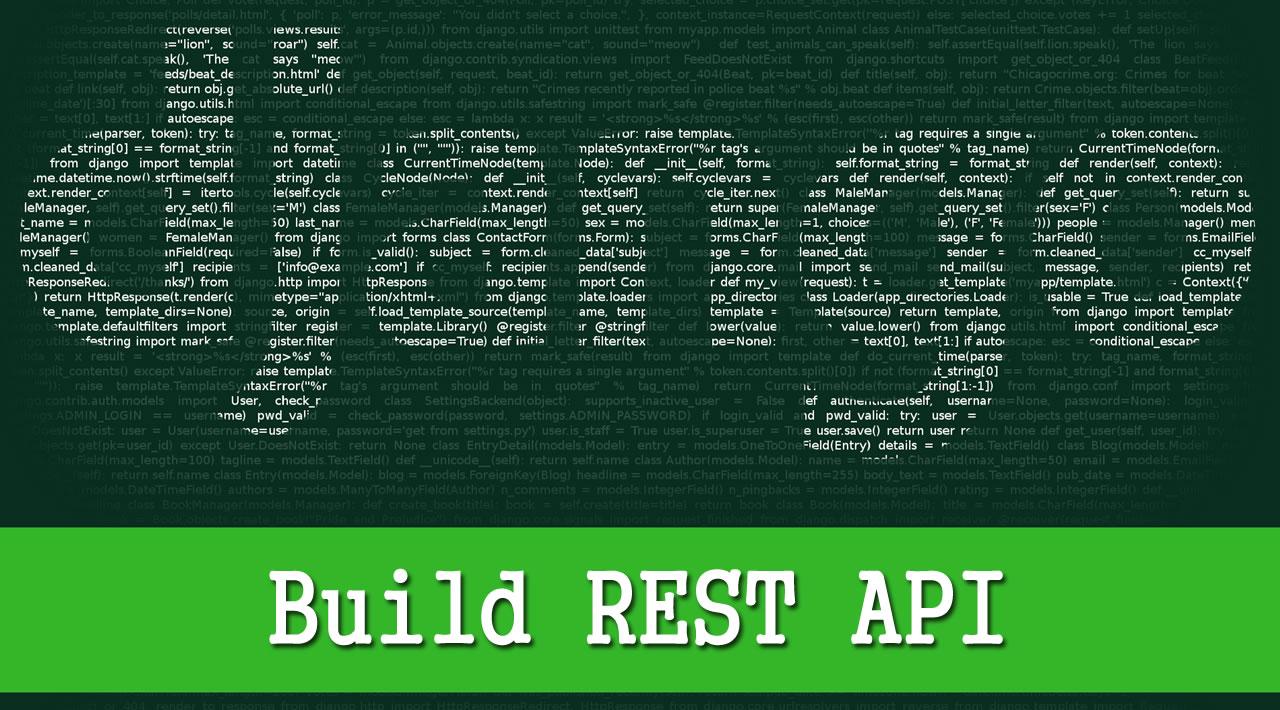 Django REST Framework Tutorial - Build REST API With Django