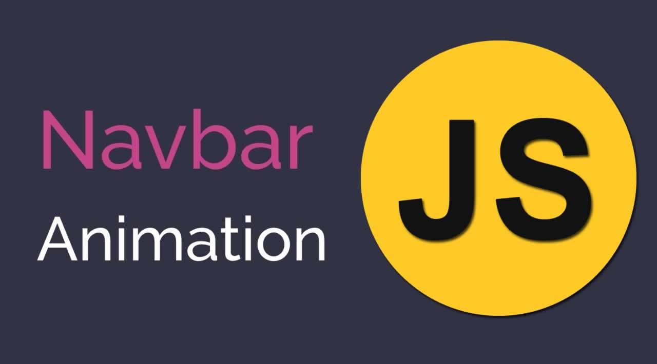 Javascript Animated Navbar Tutorial