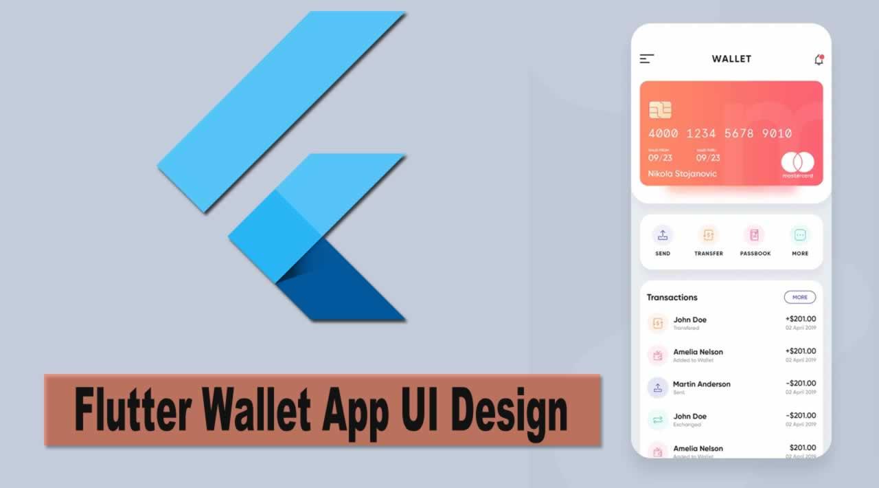 Flutter Wallet App UI Design