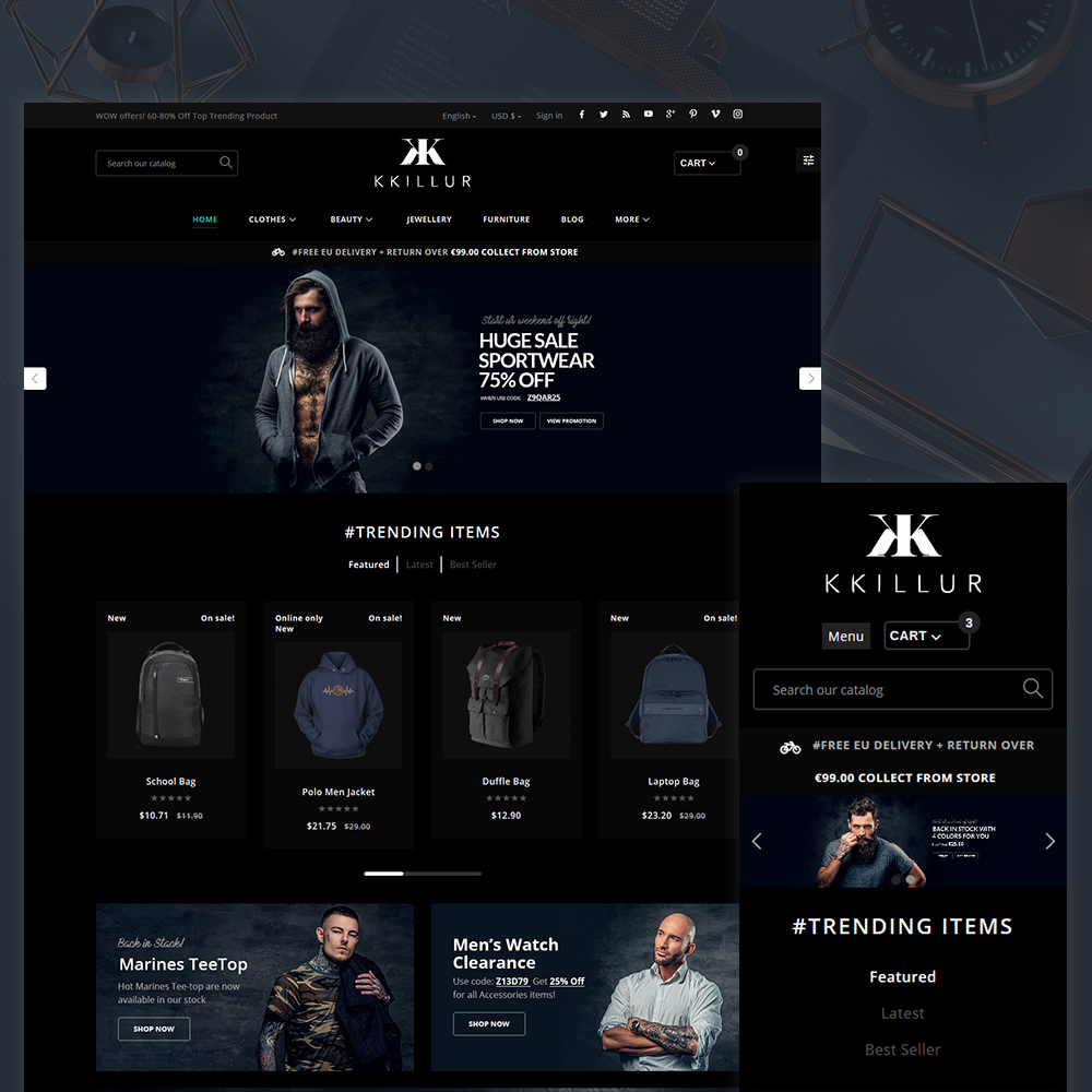 KKILLUR - Fashion Shop Template