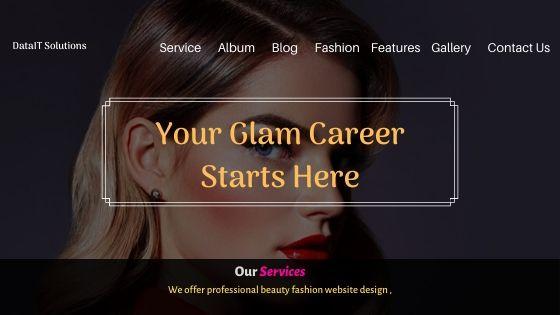 Beauty Fashion Website Design