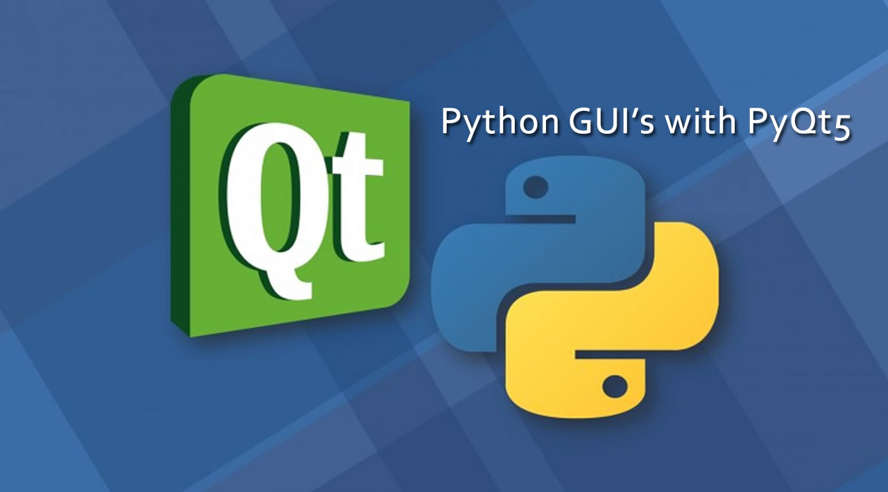 How to create GUI's in Python using PyQt5