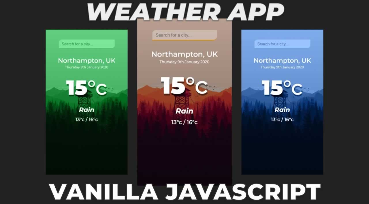 Build a Weather app using HTML, CSS & JavaScript in 2020