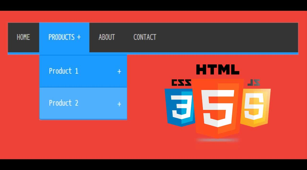 How to create a dropdown menu using HTML, CSS, JS