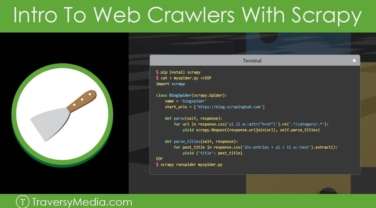Intro To Web Crawlers & Scraping With Scrapy