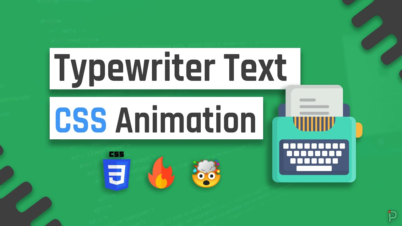 Create a Typewriter CSS Text Animation (Typing Effect)