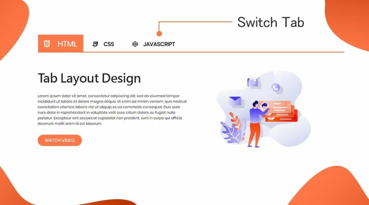 How To Make Tab Layout On Website Using HTML CSS And JavaScript