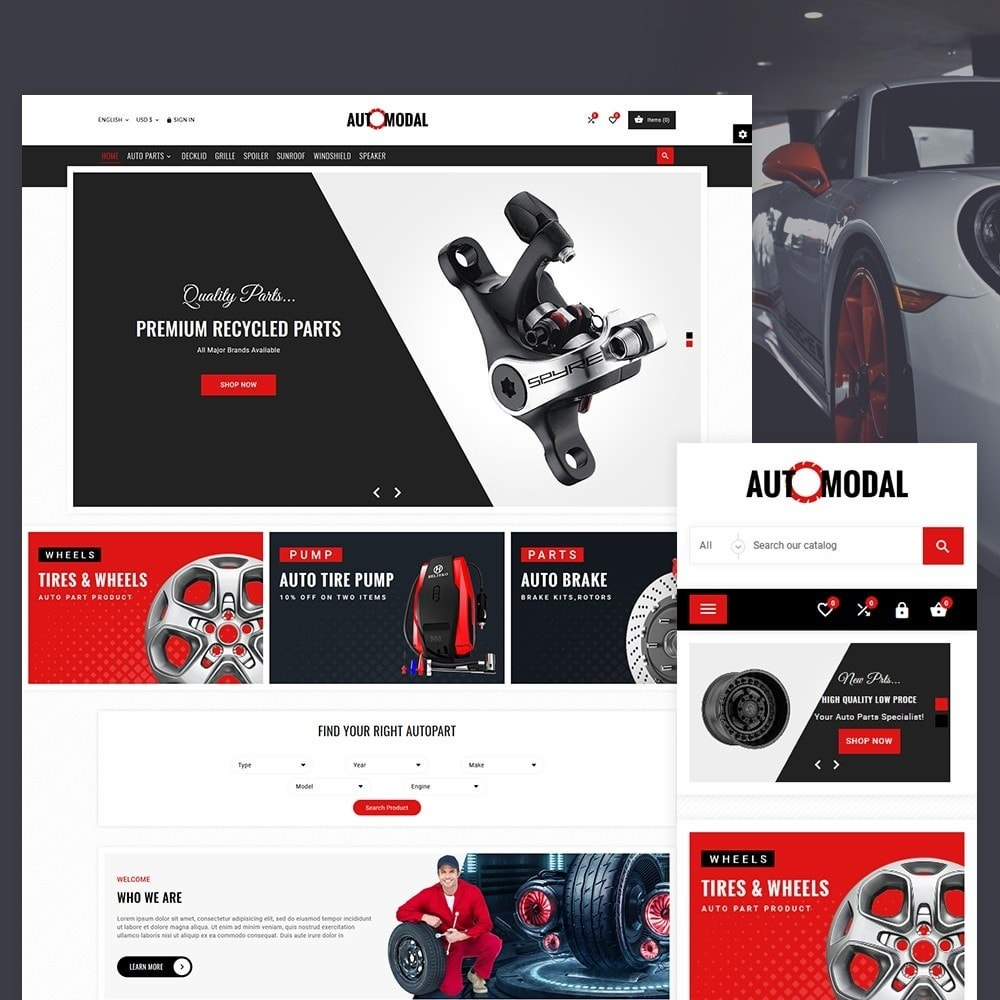 Auto Modal – Auto Part & Accessories Multi Store Template