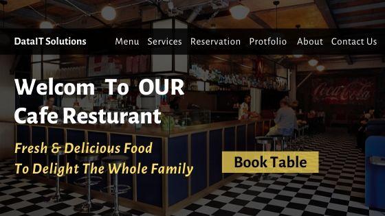 Cafe Restaurant Website Design