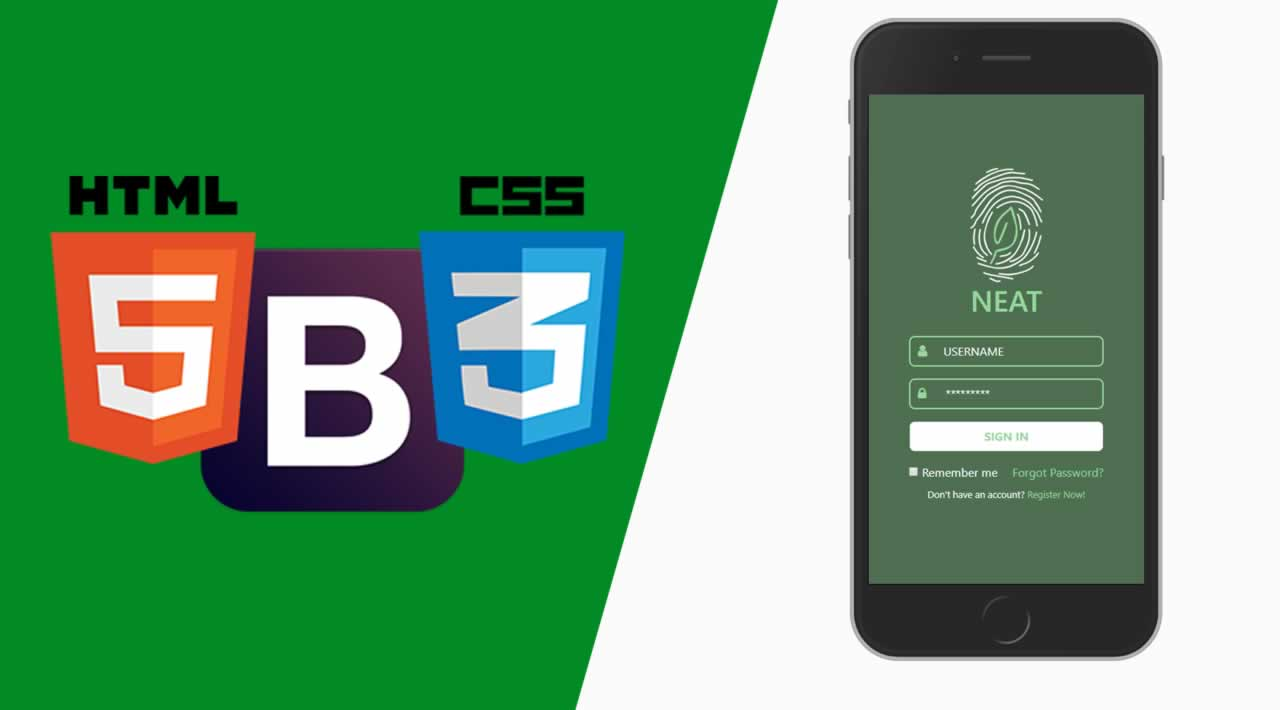 Create A Responsive Modern Login Form for Smartphones using HTML, CSS, bootstrap4 ( 2020)
