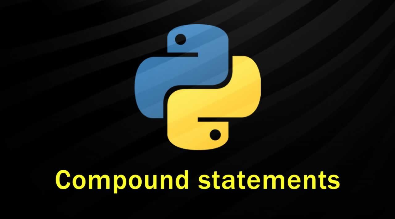 Writing compound statements in Python