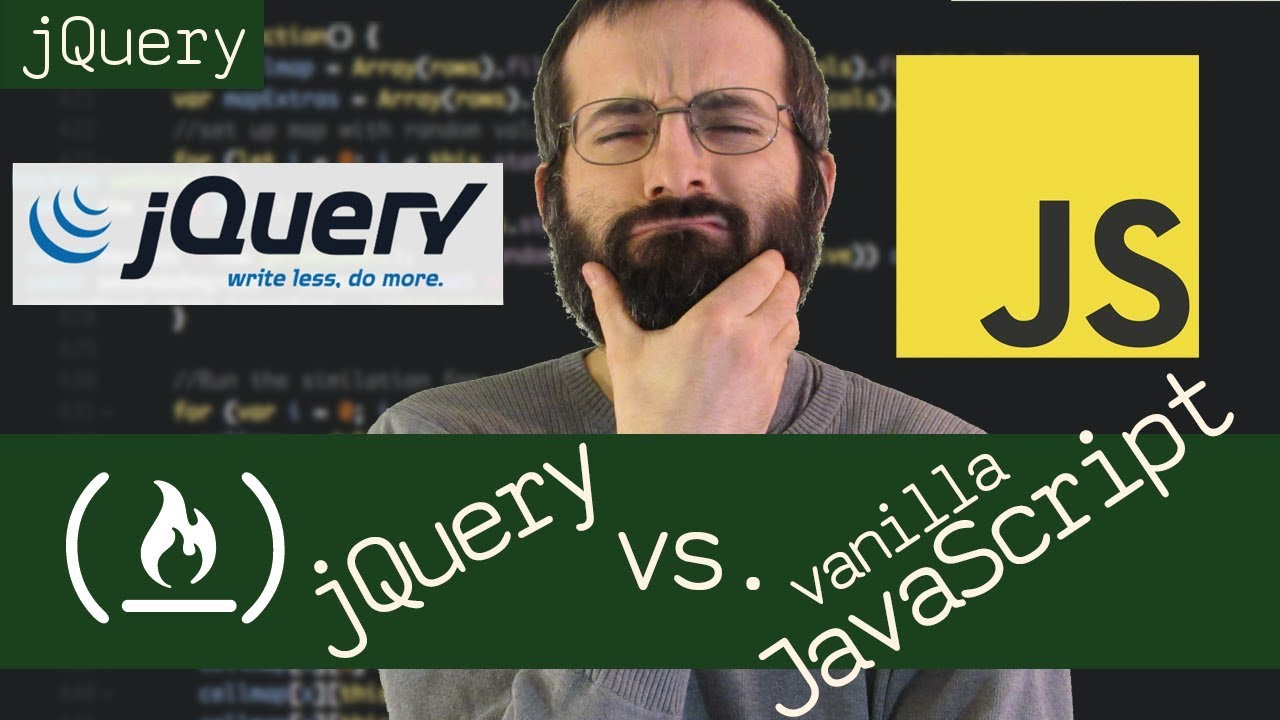 jQuery vs Vanilla JavaScript - Beau teaches JavaScript