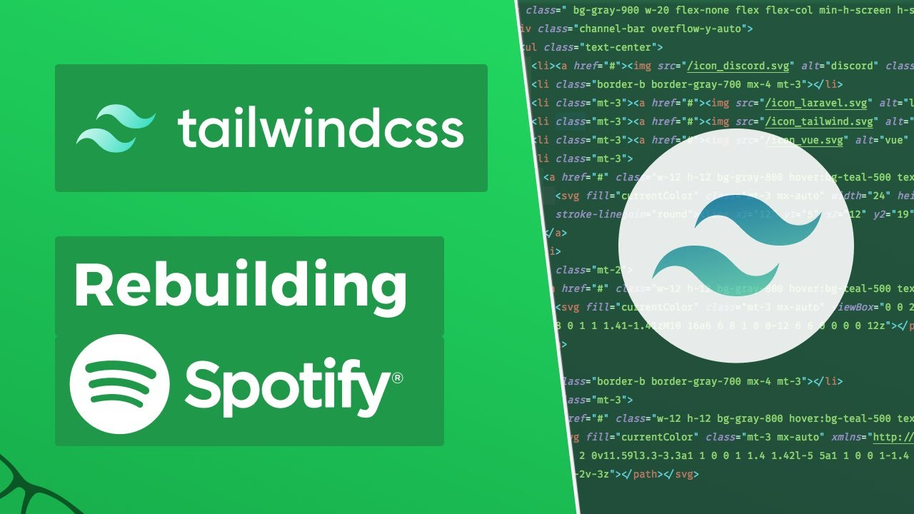 Rebuilding Spotify with Tailwind CSS v1.x