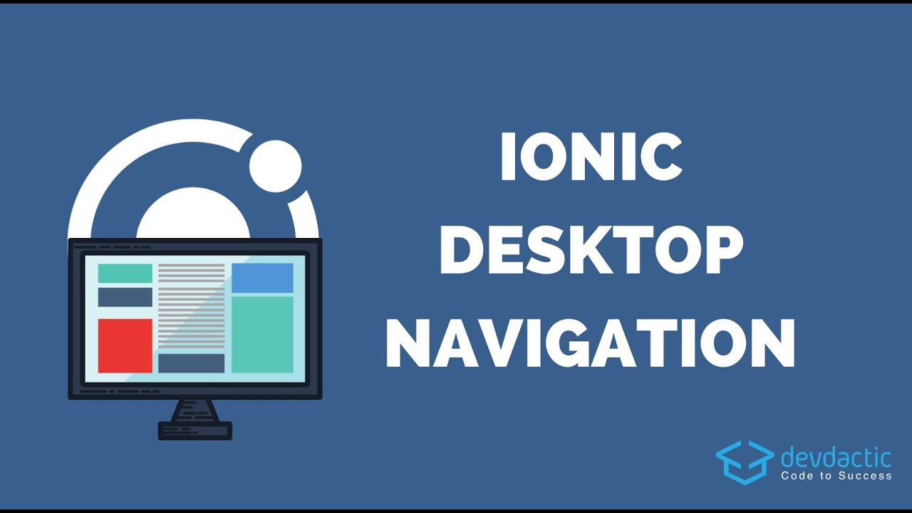 How to Create a Horizontal Navigation for Ionic Desktop Views