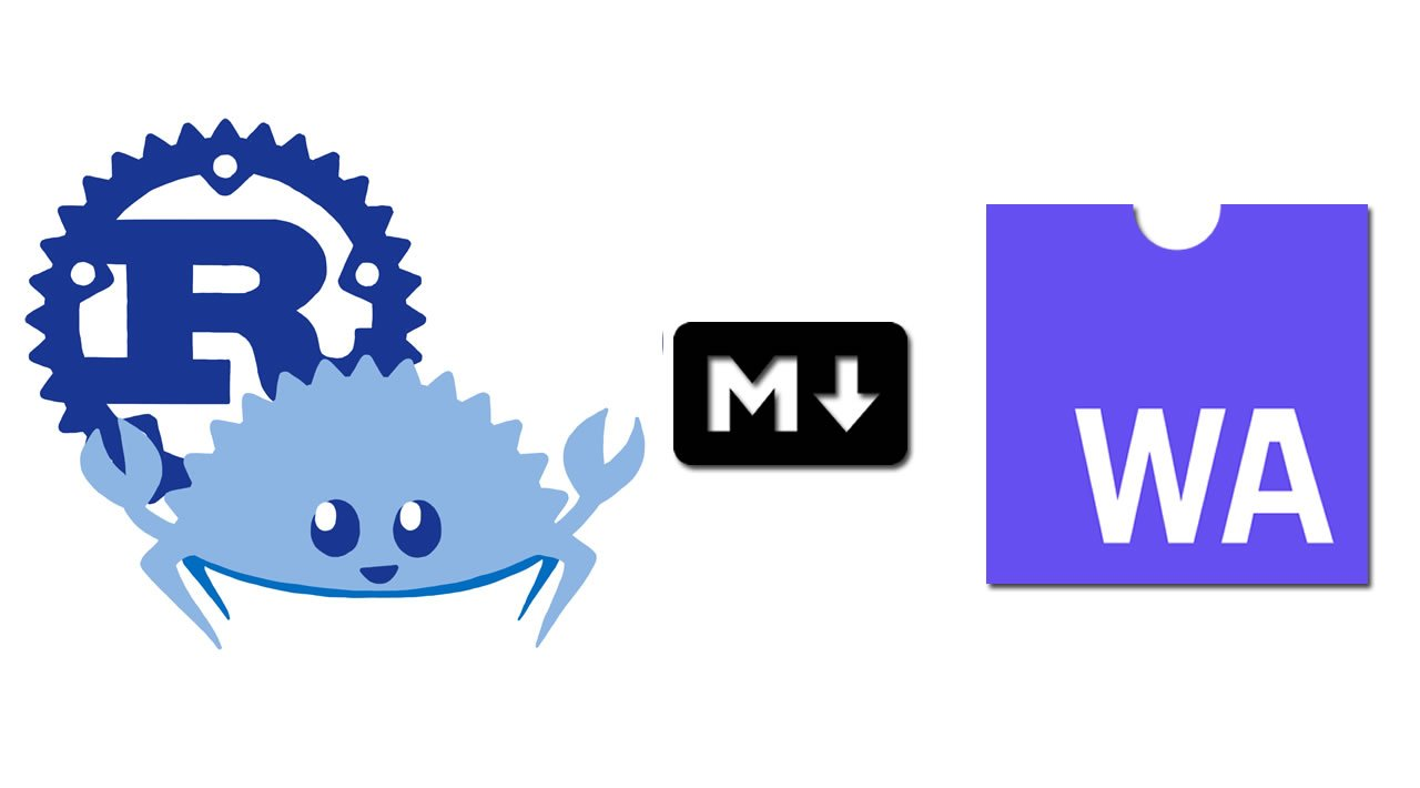 Building wasm markdown renderer with Rust