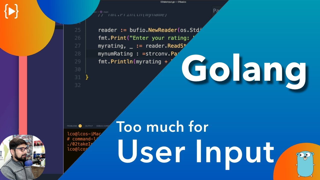 Too much to take User Input in Golang