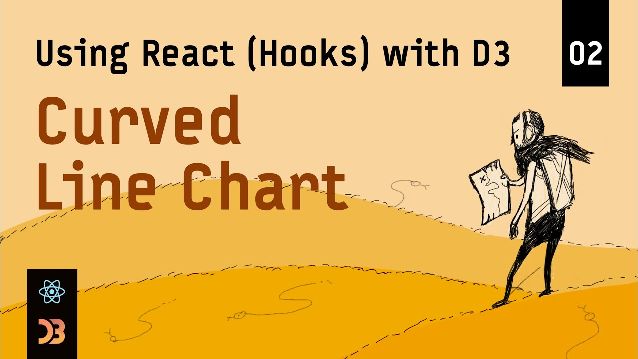 Using React (Hooks) with D3 – Curved Line Chart