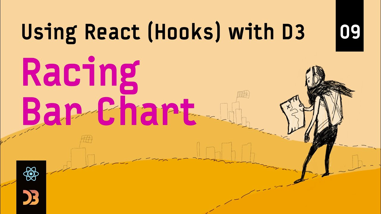 Using React (Hooks) with D3 – Racing Bar Chart