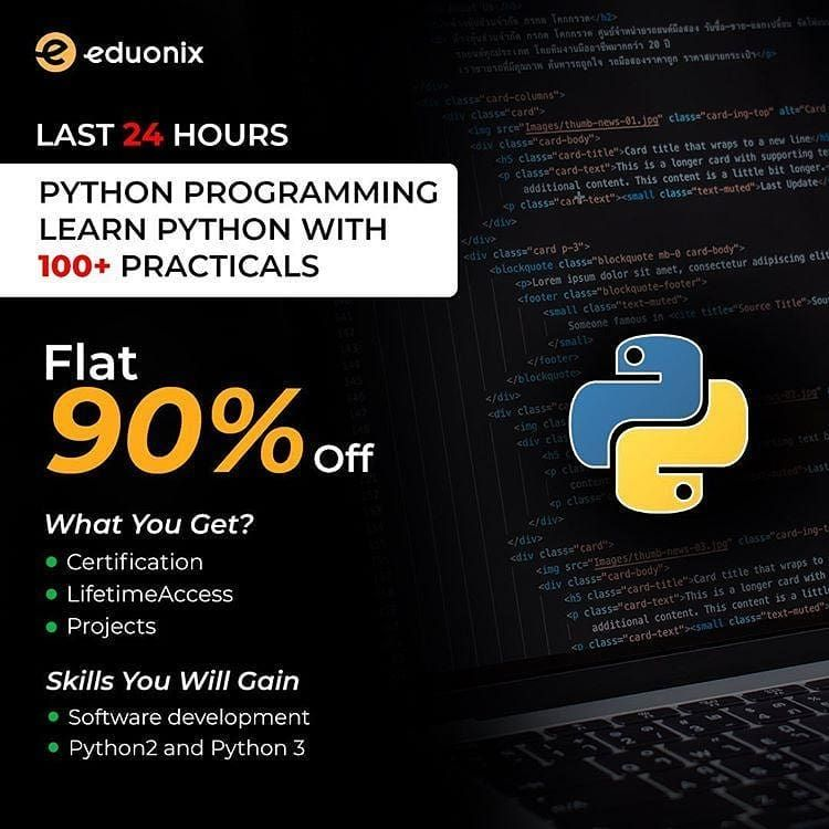 Complete Python 3 Course for Beginners