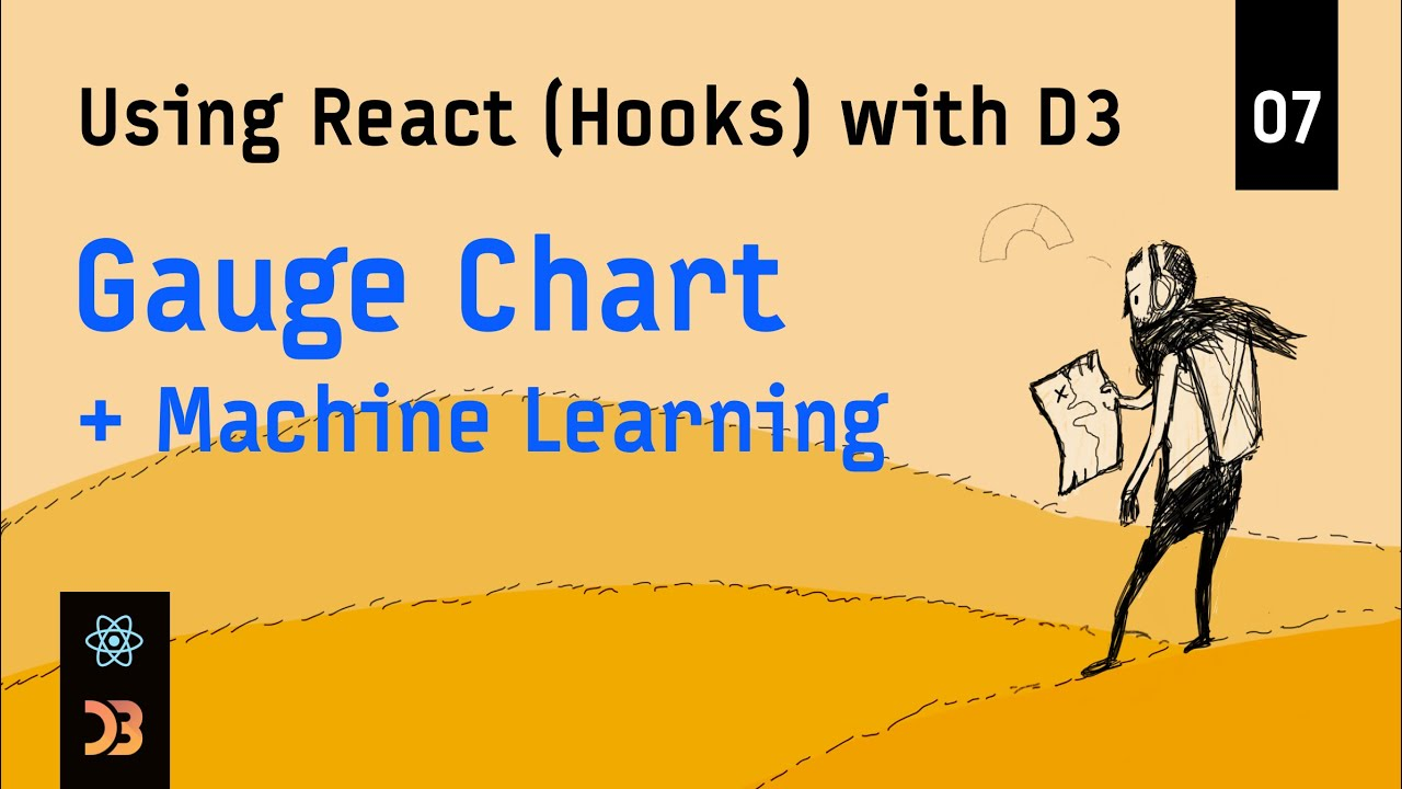 Using React (Hooks) with D3 – Gauge Chart + Machine Learning