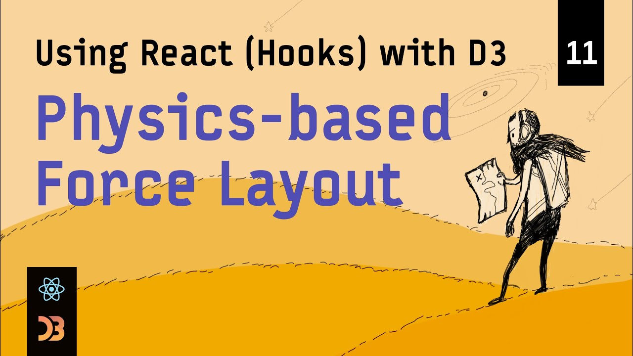 Using React (Hooks) with D3 – Physics-based Force Layout