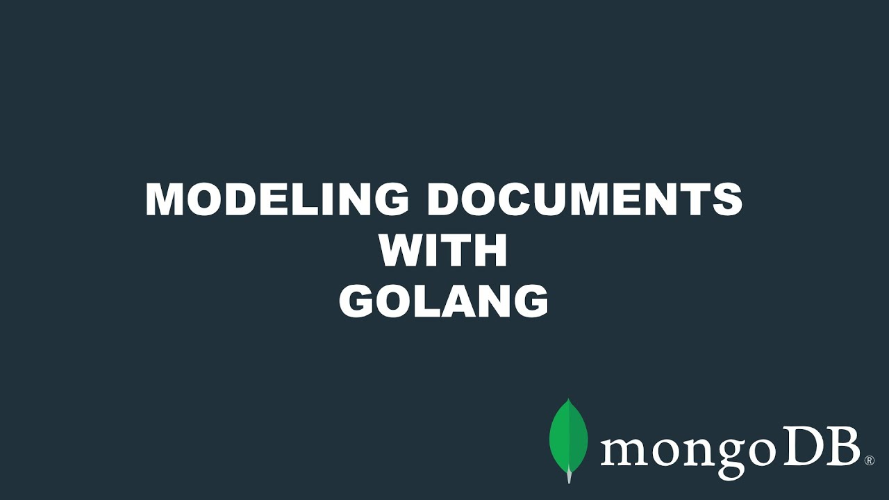 Modeling MongoDB Documents with Native Go Data Structures