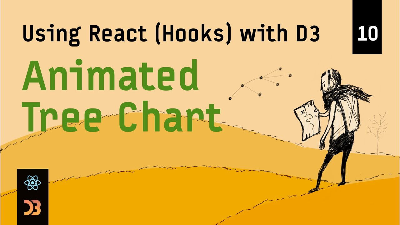 Using React (Hooks) with D3 – Animated Tree Chart