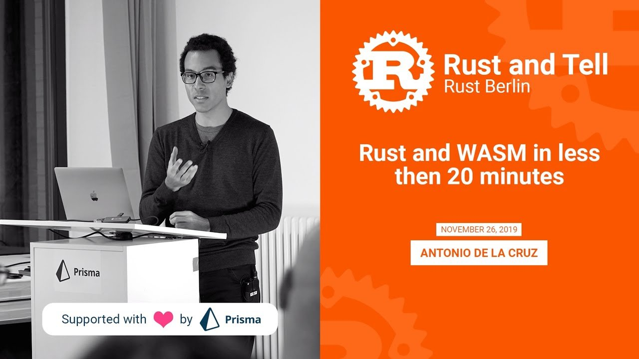 Rust and WASM in less then 20 minutes