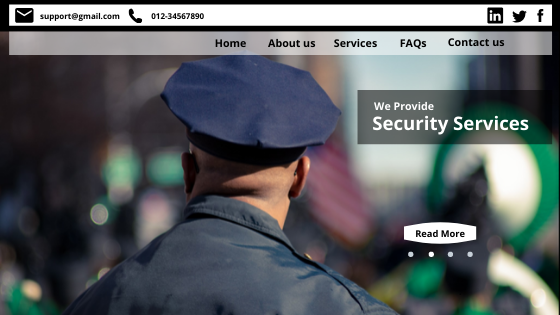Military Security Website Design