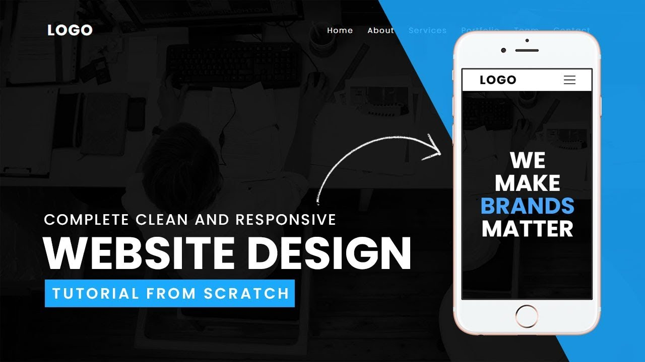 Complete Clean And Responsive Website Design Tutorial From Scratch