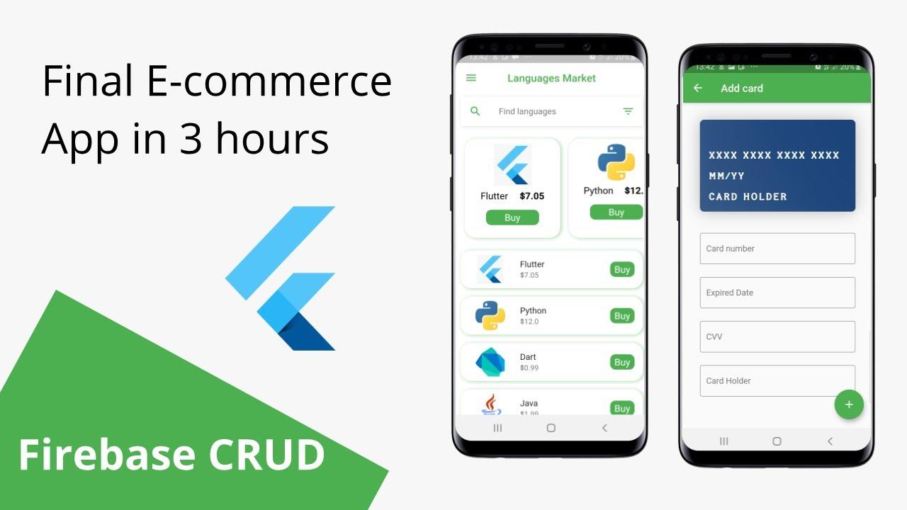 Mastering payments in Flutter - Flutter & Firebase E-commerce APP (Firebase CRUD)