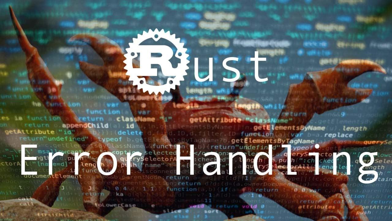 The Rust Programming Language - Error Handling