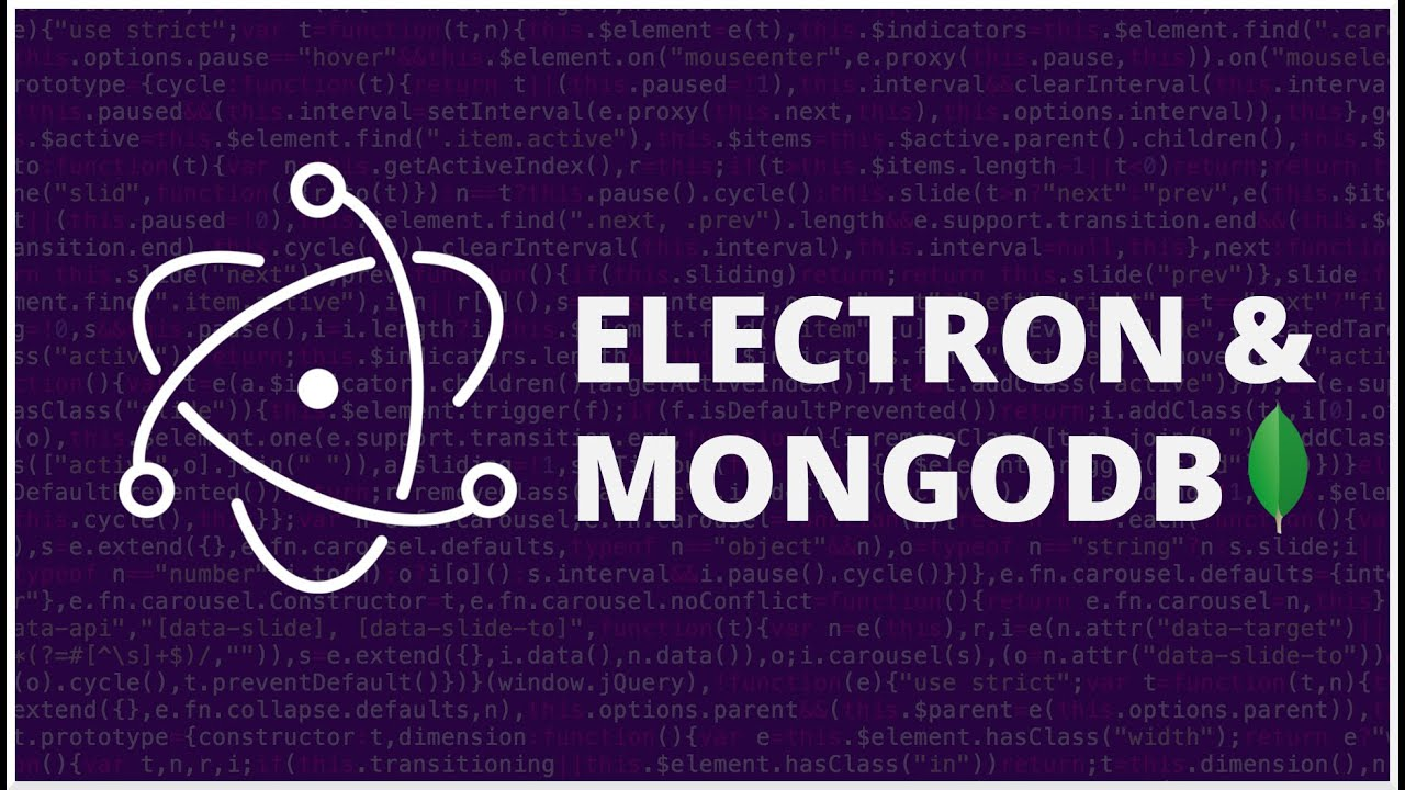 Electron & MongoDB CRUD - Aplicación CRUD con HTML, CSS y JavaScript