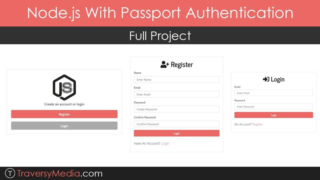 Node.js With Passport Authentication