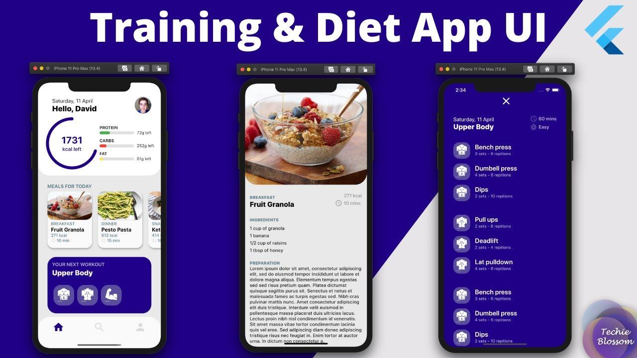 Flutter UI Tutorial - Training & Diet App