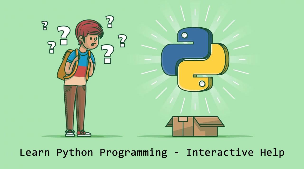 Learn Python Programming - Interactive Help
