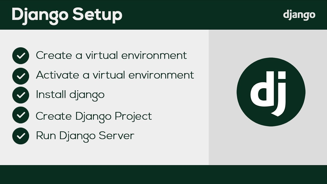 Django Setup Windows : Start Django project & more (2020)