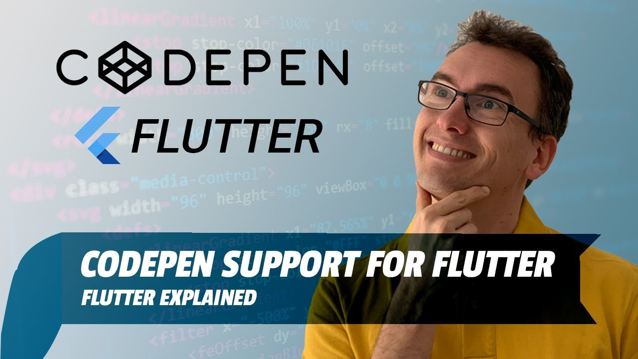 Codepen support for Flutter