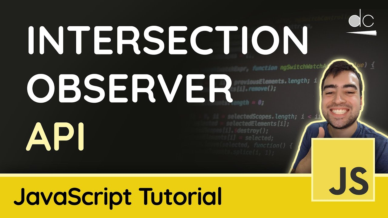 How to use the Intersection Observer API within JavaScript