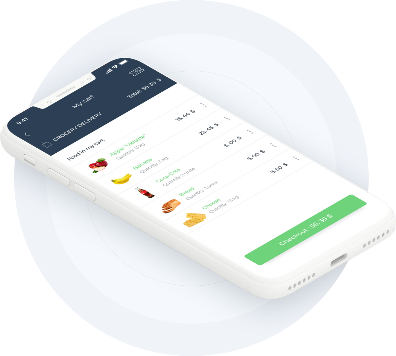 On demand grocery delivery app: Eat Fresh.Pay less