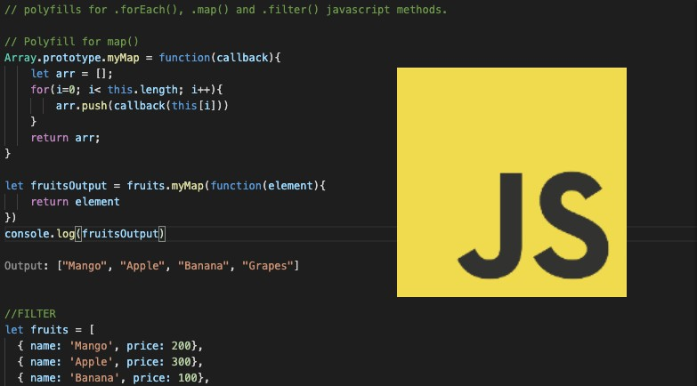 Polyfills for .forEach(), .map() and .filter() methods of javascript