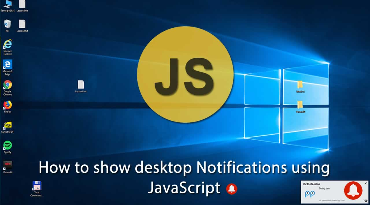 How to show desktop Notifications using JavaScript?