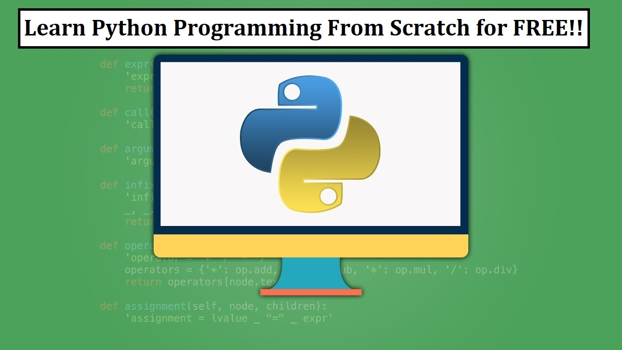 ONLINE TUTORIALS TO LEARN PYTHON PROGRAMMING FOR FREE