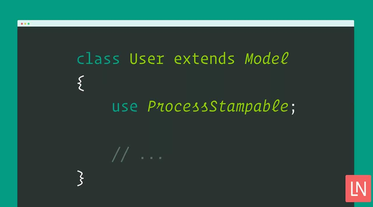 Laravel Process Stamps Logs the Process Used to Update Models