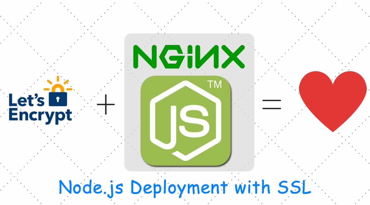 Full Node.js Deployment - NGINX, SSL With Lets Encrypt