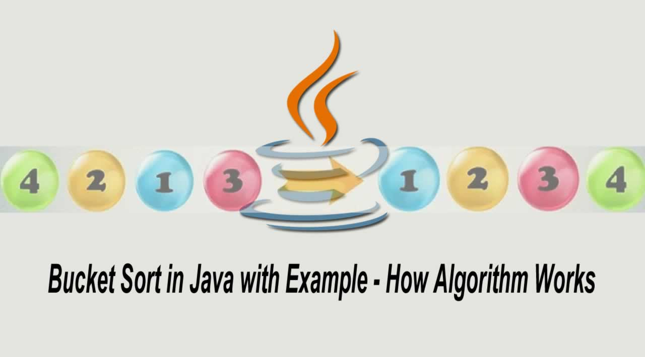Bucket Sort in Java with Example - How Algorithm Works