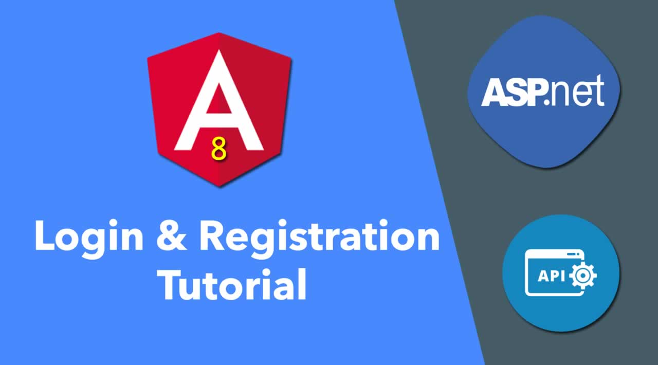 Login and Registration ASP.NET Web API Using Angular 8